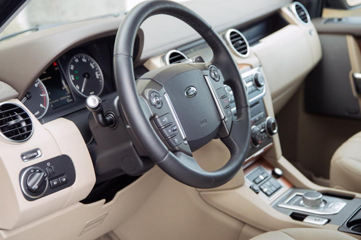 land rover lr review steering wheel angle