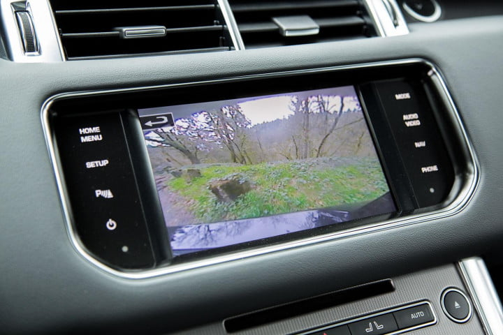 land rover range sport review backup camera