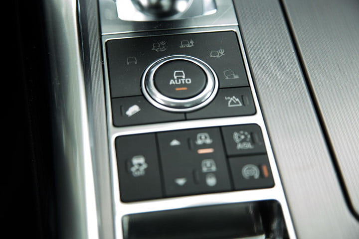 land rover range sport review center console controls