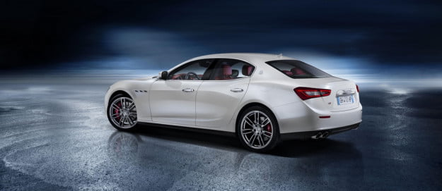 2014 Maserati Ghibli rear three quarter