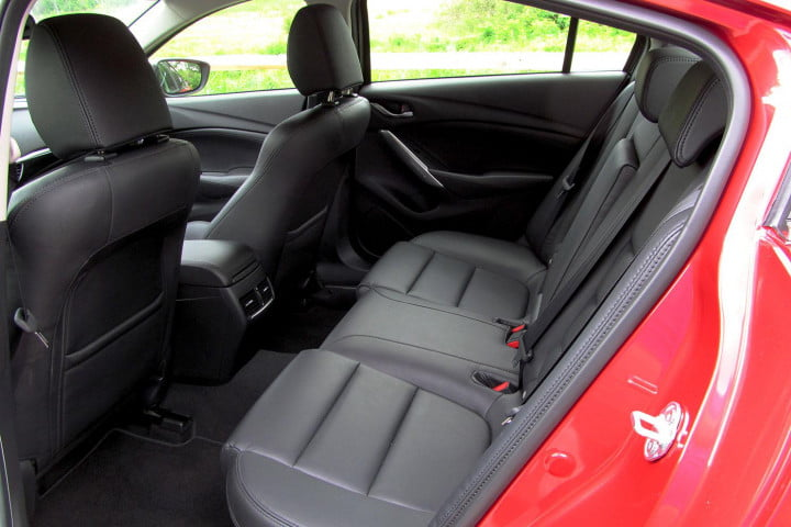 mazda i touring review back seats