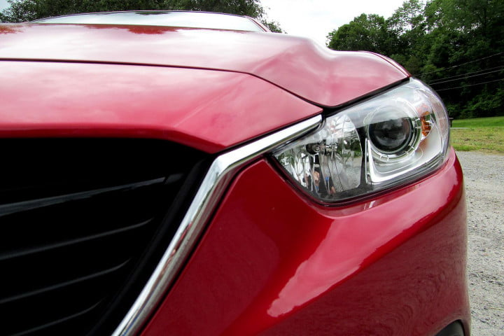 mazda i touring review front headlight