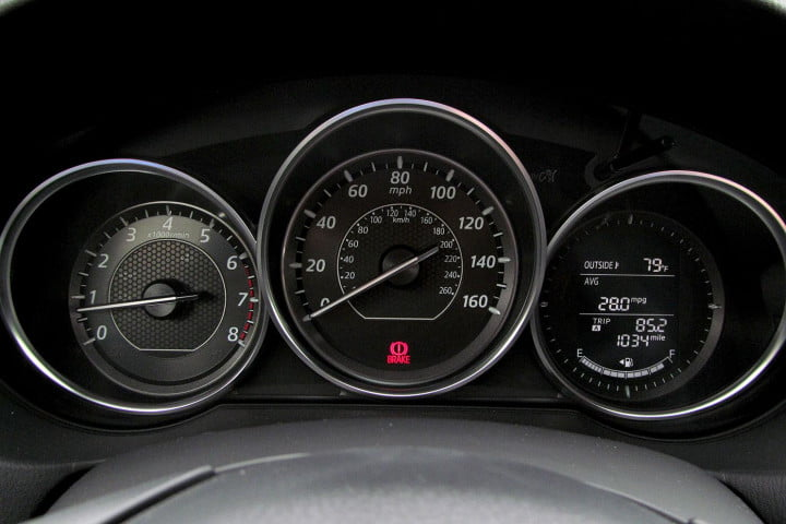mazda i touring review speedometer