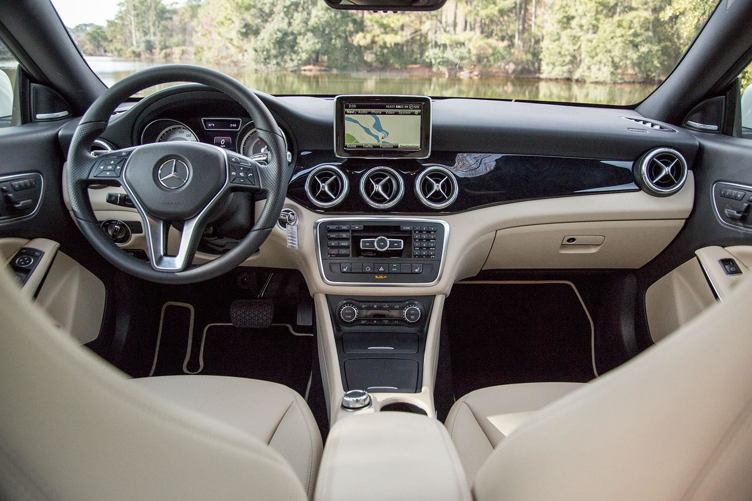 2015 Mercedes Benz Cla250 Review Digital Trends Cla 2014 Front Interior From Back
