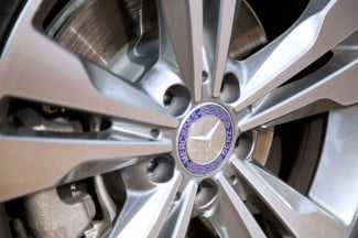 2014 Mercedes Benz CLA250 wheel macro