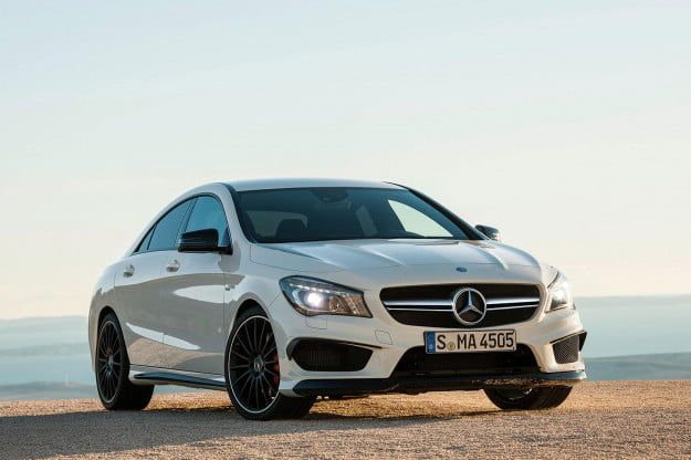 2014 Mercedes Benz CLA45 front side angle