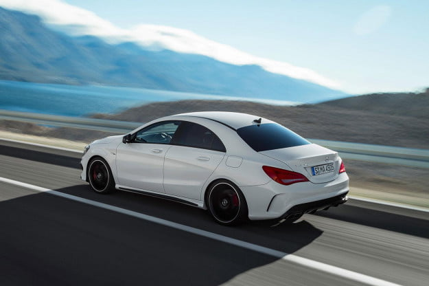 2014 Mercedes Benz CLA45 left side angle