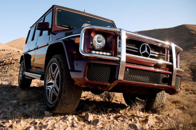 2014 Mercedes Benz G63 AMG front angle macro