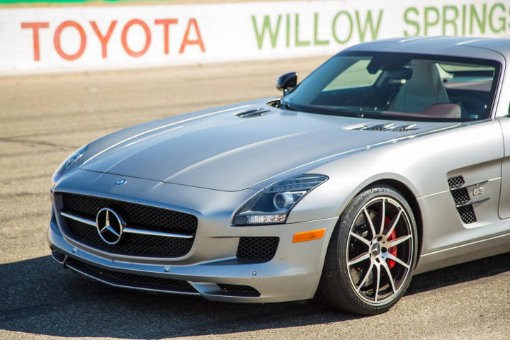2014 Mercedes Benz SLS AMG Black Series silver front end