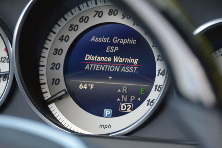 first drive  mercedes benz e class tech distance warning