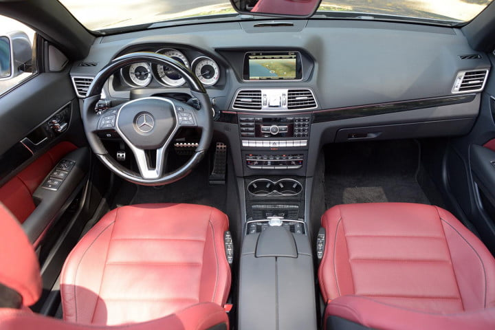 first drive  mercedes benz e class interior front top view