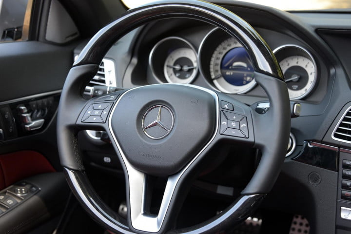 first drive  mercedes benz e class interior steering wheel