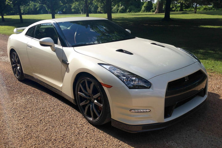nissan gt r review front angle