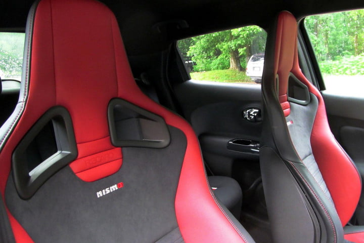 nissan juke nismo rs review seats
