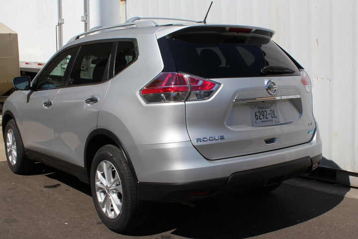 nissan rogue sv review back angle