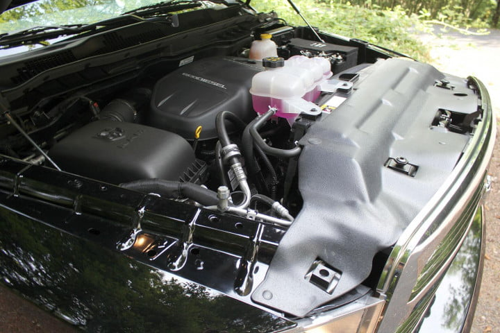 ram big horn ecodiesel review engine side