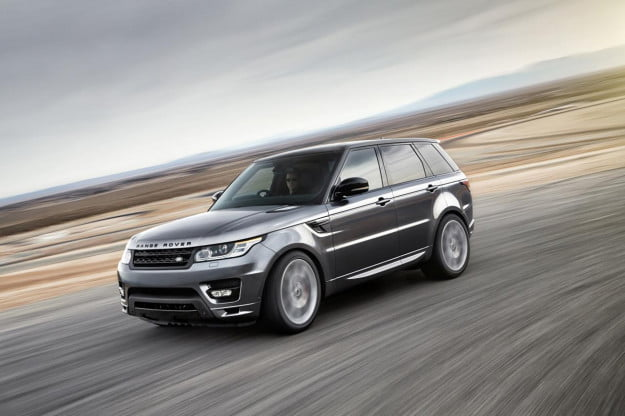 2014 Land Rover Range Rover Sport motion on track