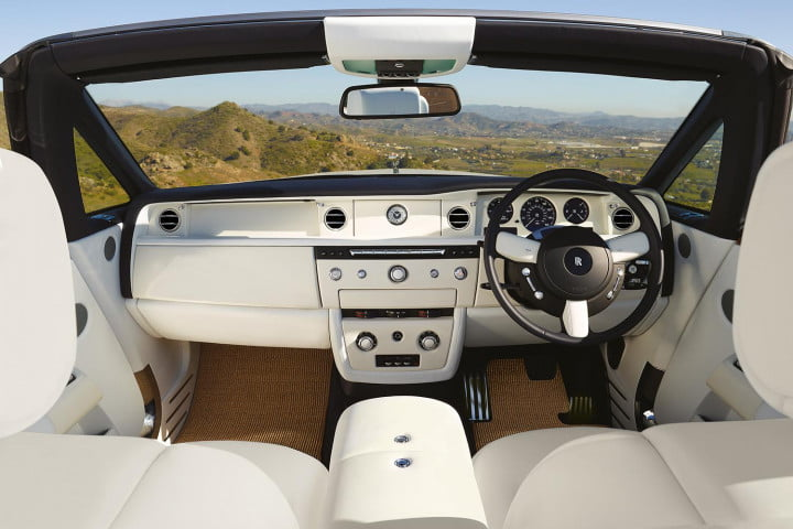 rolls royce phantom drophead coupe review front interior