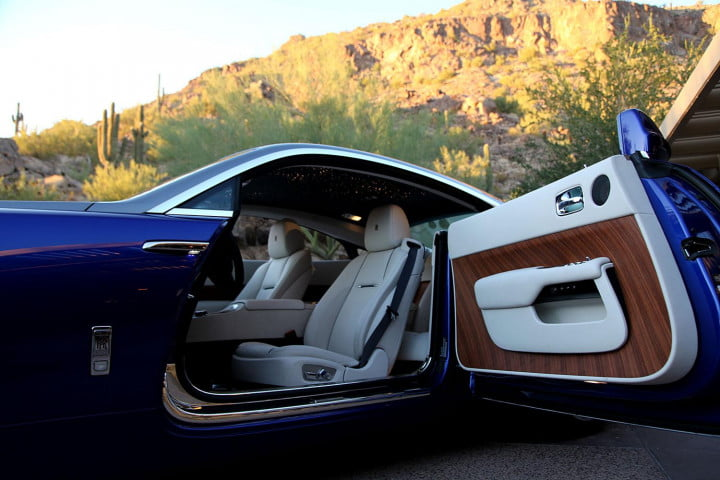 rolls royce wraith review door open