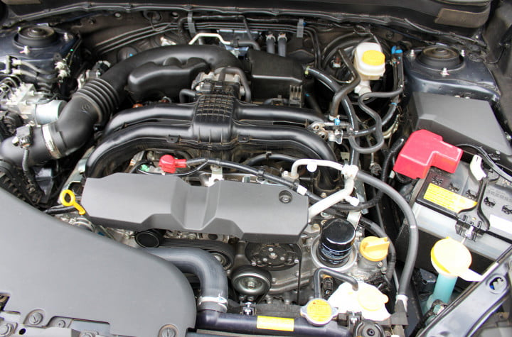 subaru forester i touring cvt engine detail