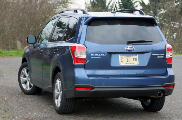 2014 subaru forester 2.5i touring cvt rear left angle