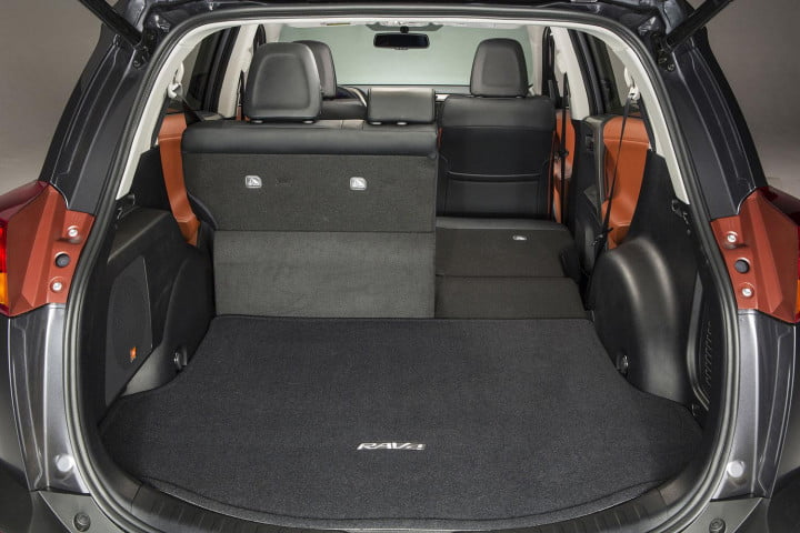 toyota rav limited first drive limted back seat down