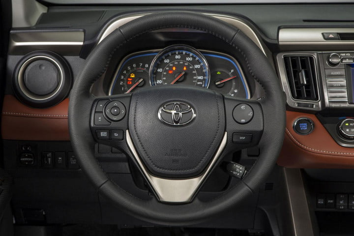 toyota rav limited first drive limted steering wheel