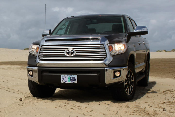 toyota tundra review front angle