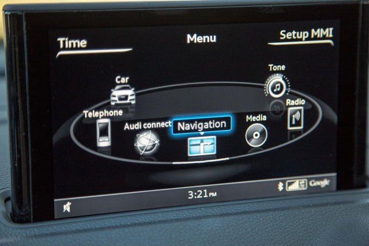 audi a review center screen