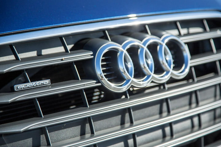 audi a review front badge angle