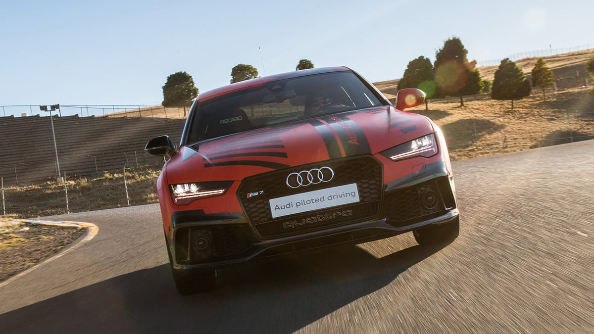 thunderhill raceway to host track day autonomous cars  audi rs piloted driving prototype robby at sonoma