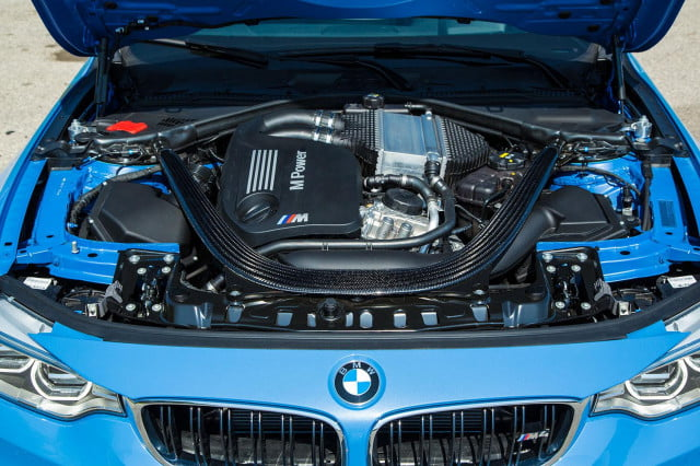 2015 BMW M4 engine open