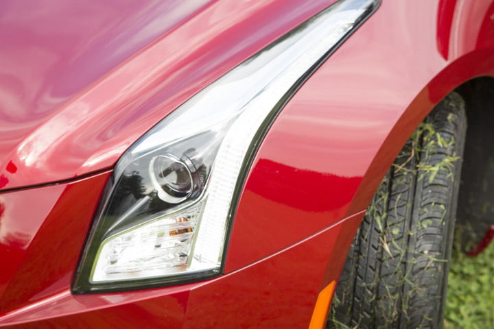 cadillac ats coupe review headlight