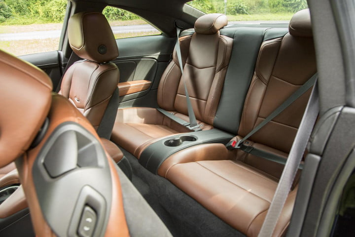 cadillac ats coupe review interior back