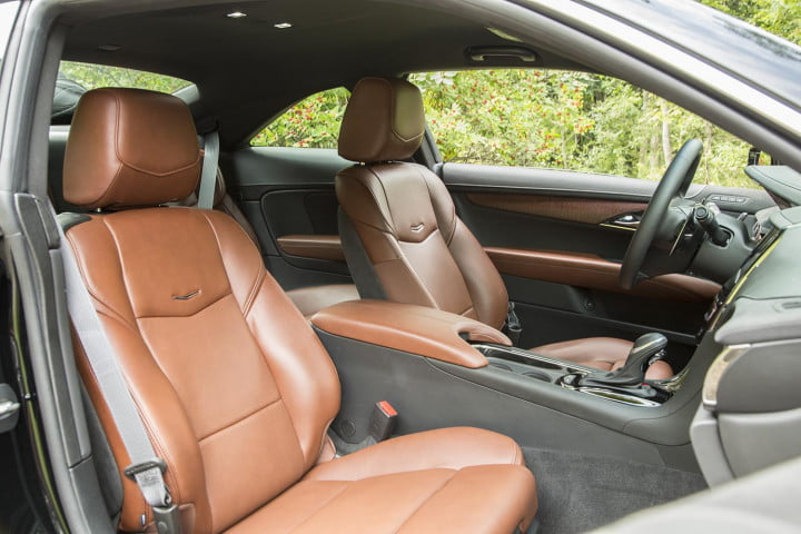 cadillac ats coupe review interior passenger