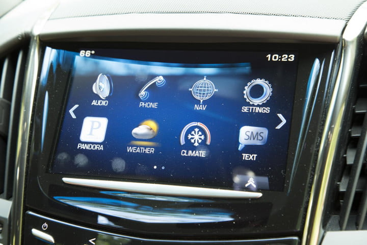 cadillac ats coupe review screen apps