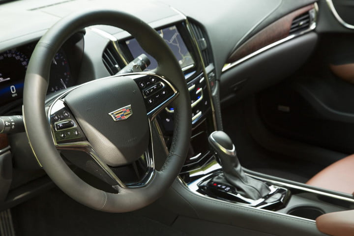 cadillac ats coupe review steering wheel
