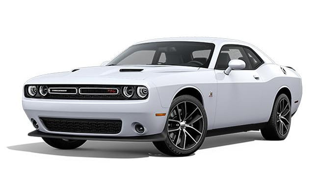 dodge challenger rt scat pack review exterior scatpack brightwhite front