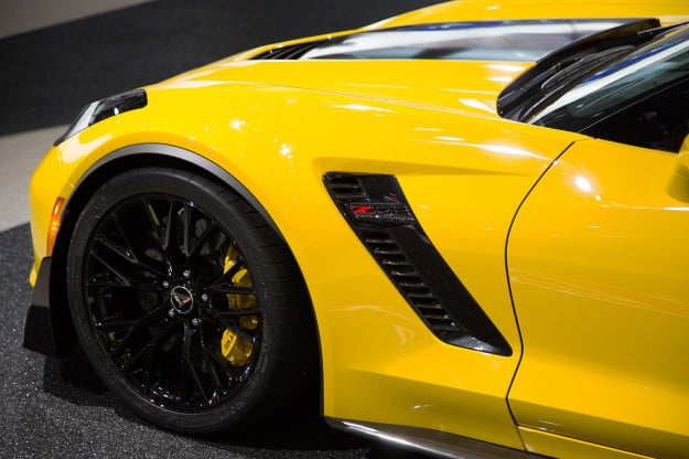 2015 Chevrolet Corvette Z06 front left macro