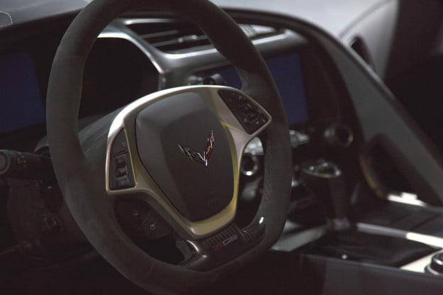 2015 Chevrolet Corvette Z06 steering wheel macro
