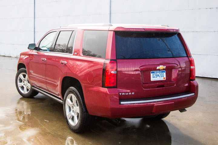 chevrolet tahoe review back angle