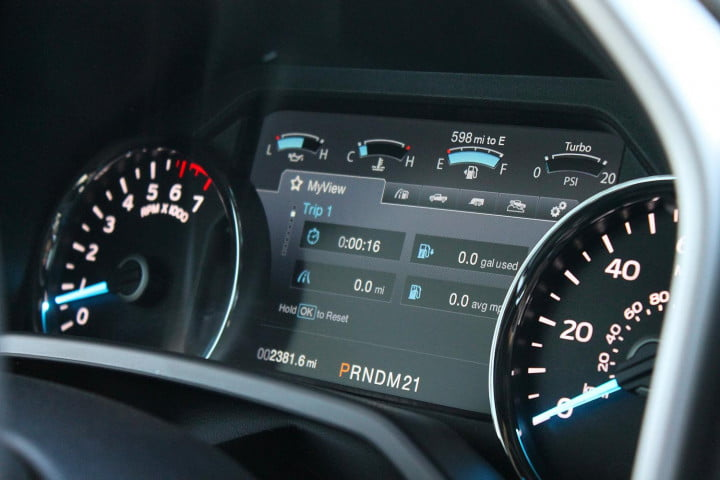 first drive  ford f intrument panel