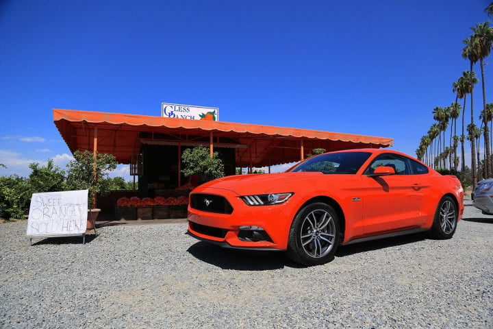first drive  ford mustang orange