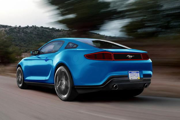 2015 Ford Mustang Renderings Rear Angle