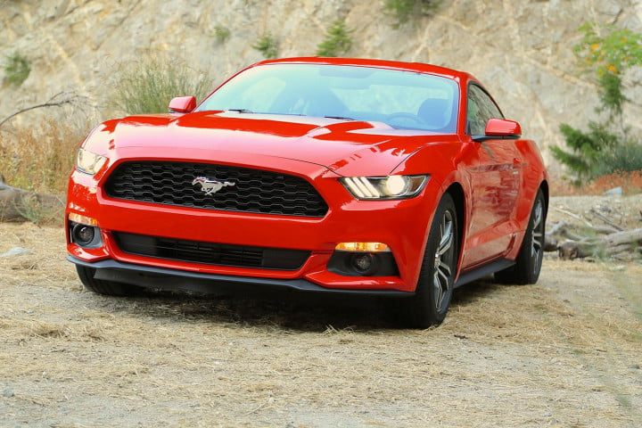 first drive  ford mustang right angle