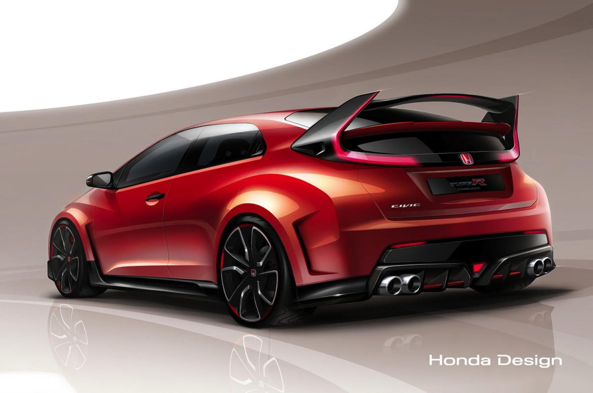 forbidden fruit hondas racing car road civic type r concept coming geneva  honda h