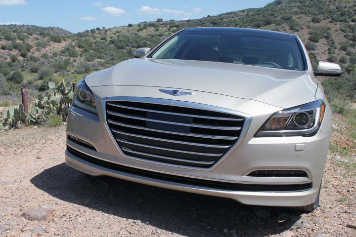 hyundai genesis  review front section angle