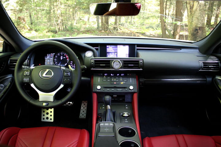 first drive  lexus rc f front interior