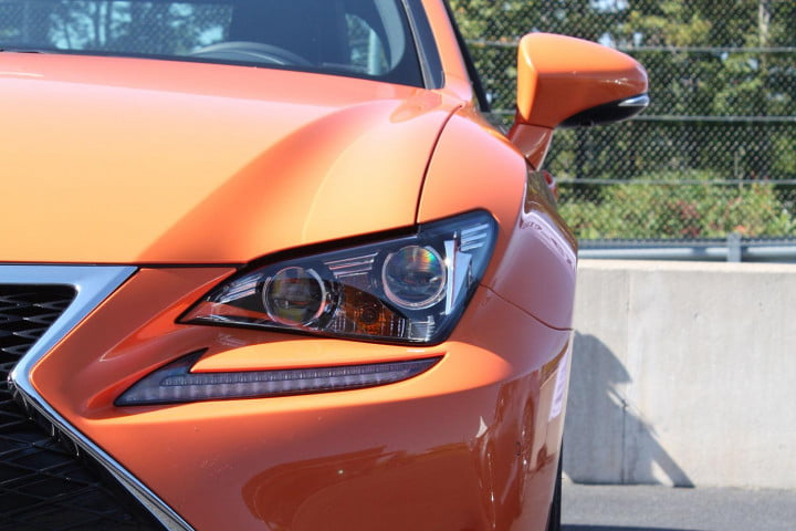 first drive  lexus rc f orange headligh
