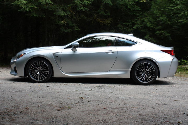 first drive  lexus rc f right side
